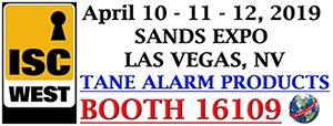 ISC West. April 10-11, 2019, Sands Expo, Las Vegas. Booth 16109